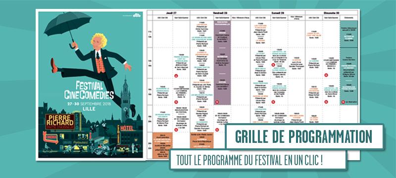 La grille de programme du festival