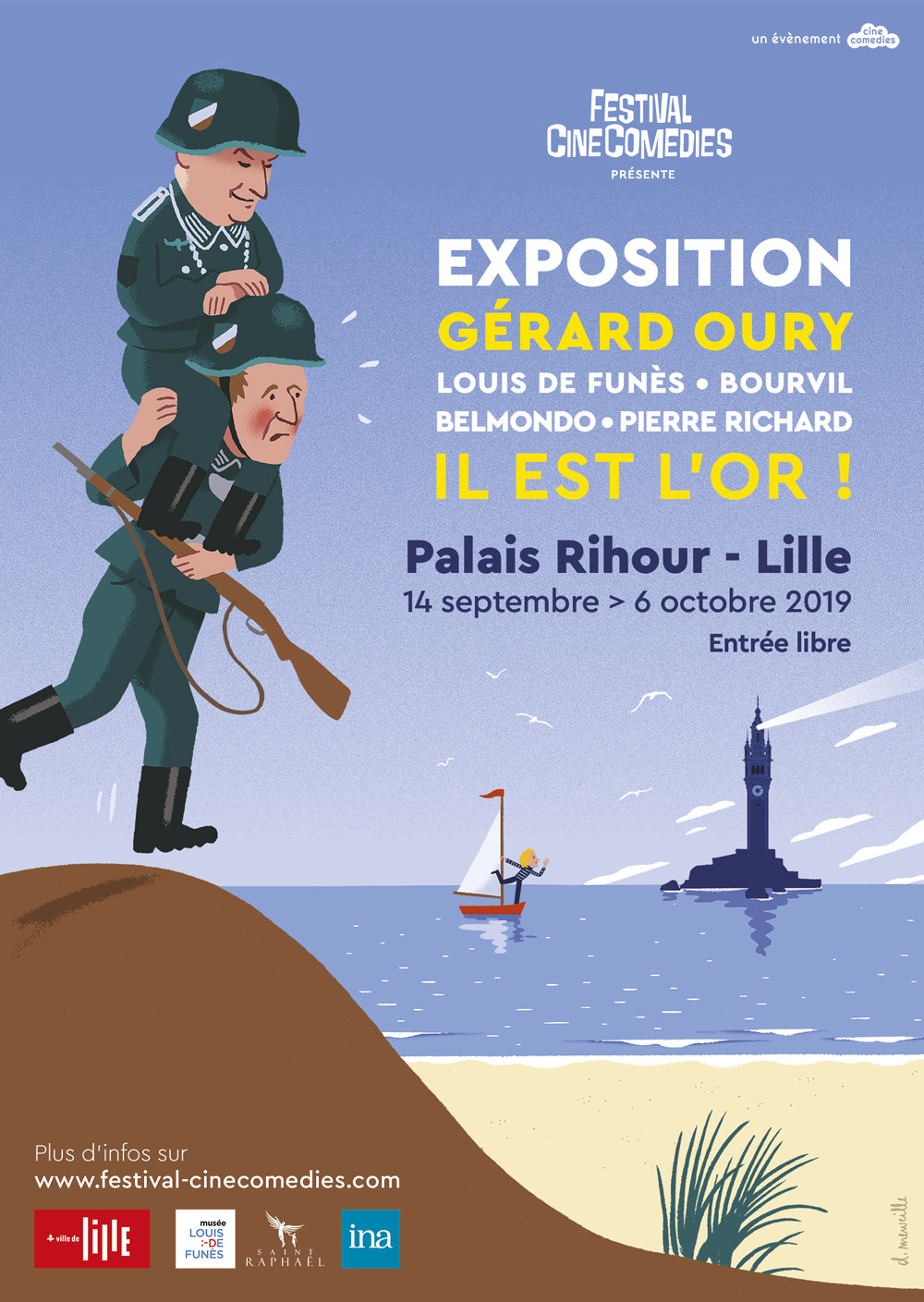 Affiche Exposition Gérard Oury