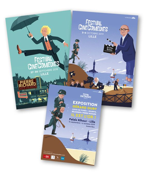 Lot d'affiches Festival CineComedies