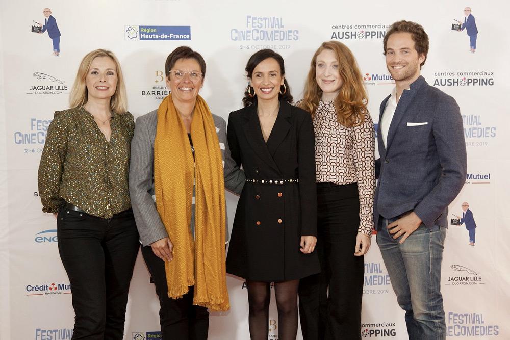 Le jury du CineComedies Talents 2019 © Photo : Sabrina Mariez