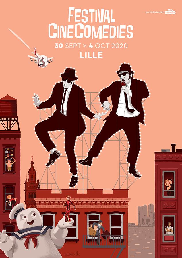 Affiche Festival Cinecomedies 2020