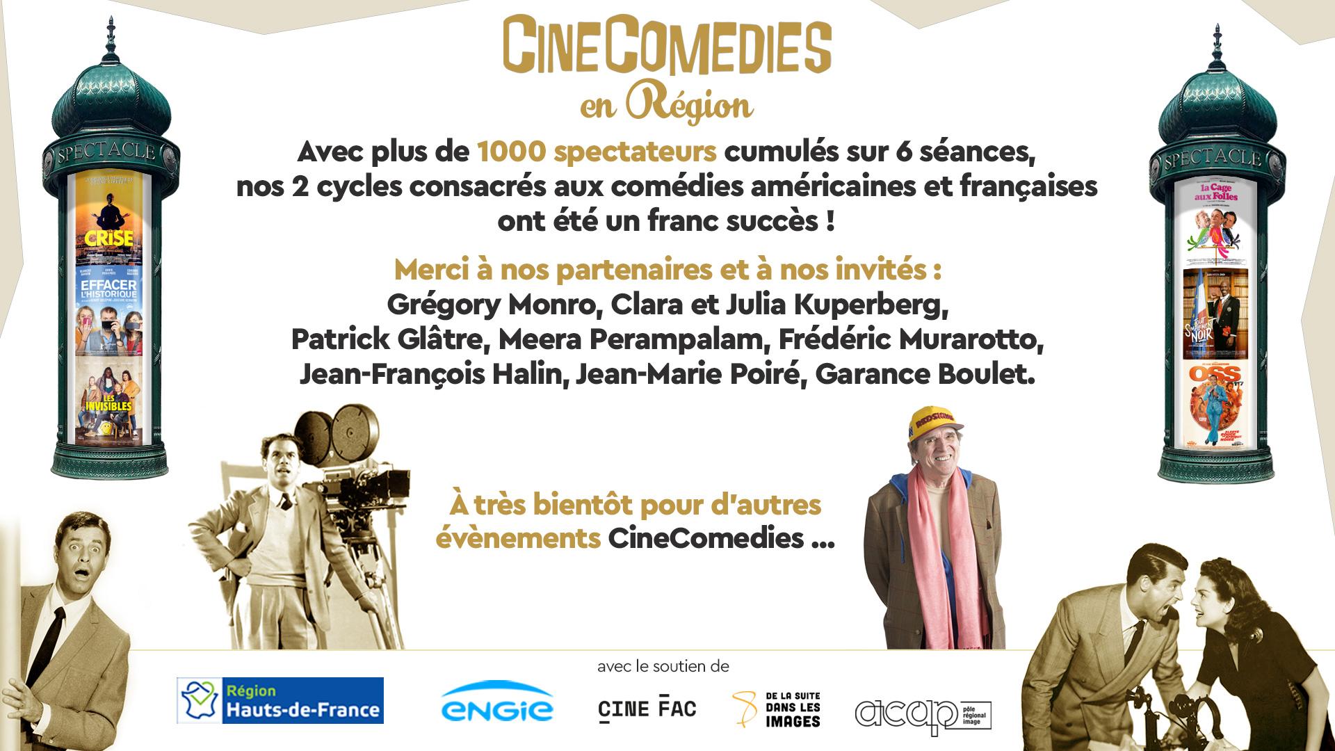 Remerciements CineComedies Régions