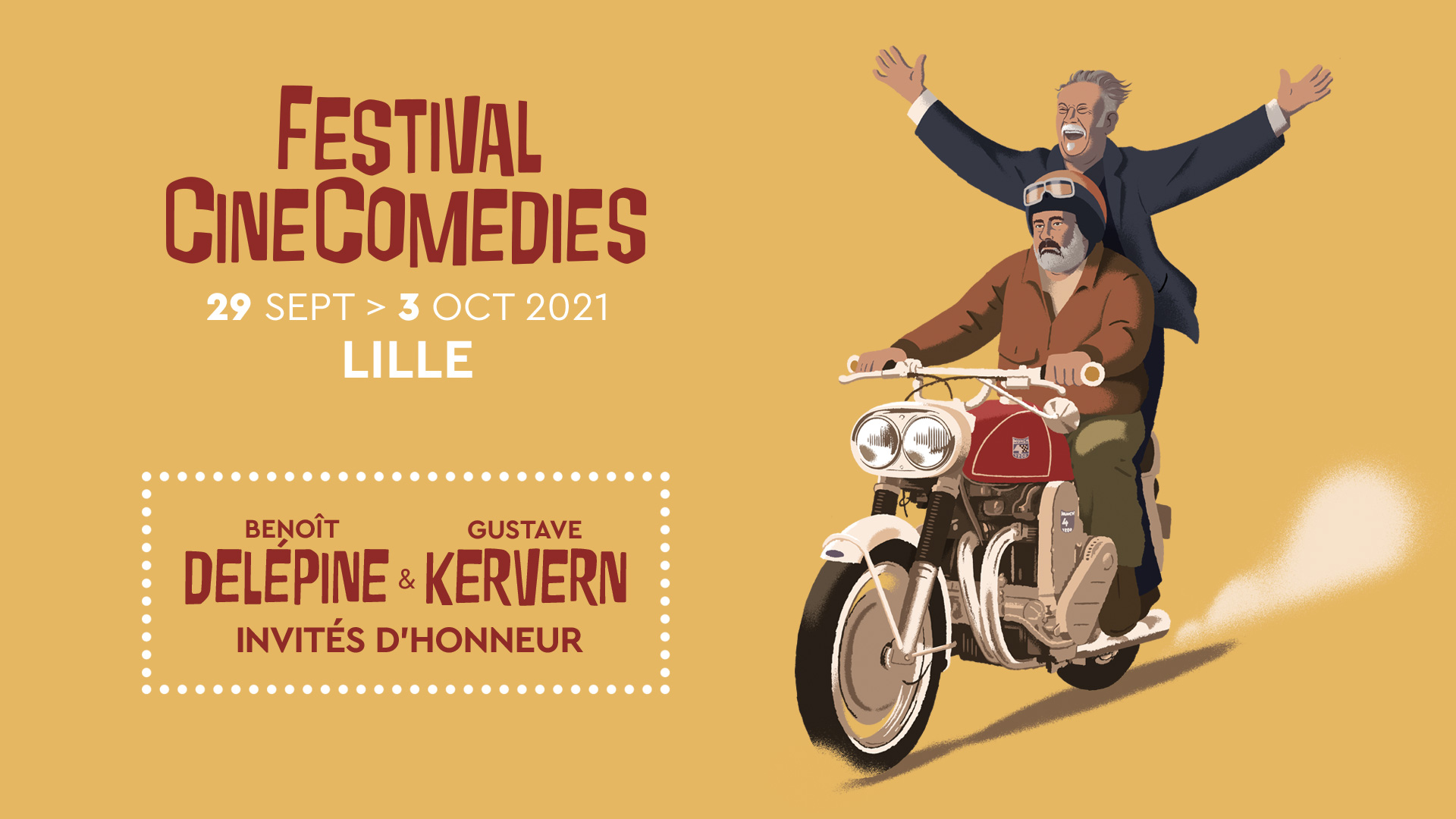 Delépine & Kervern Invités d'honneur du Festival CineComedies