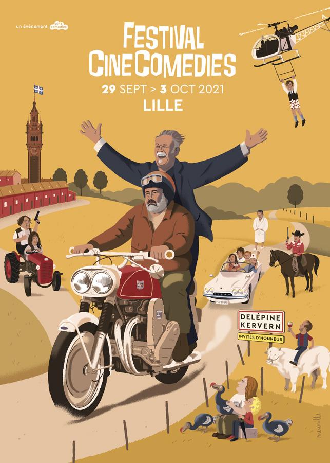 Affiche Festival CineComedies 2021