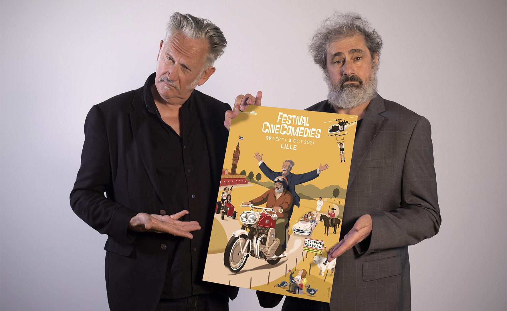 Benoît Delépine & Gustave Kervern invités d'honneur du festival CineComedies 2021 ©Bruno Tocaben
